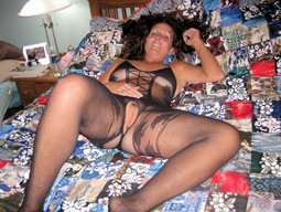 Beautiful wife in stockings and other..