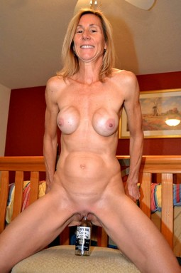 Wild German mom masturbate, fuck and..