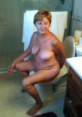 On toilet wife Naked