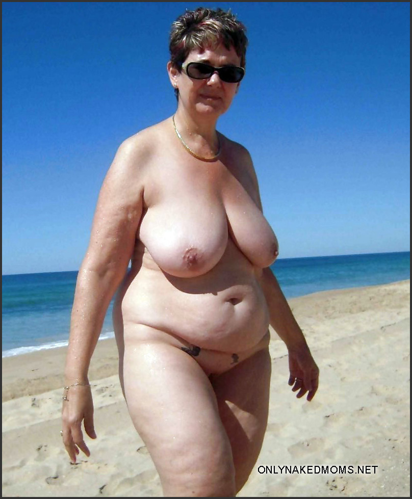 Woman topless mature